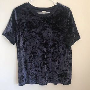 A New Day Navy/Purple Velvet Top